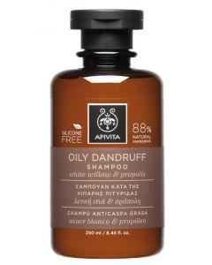 Apivita Oily Dandruff Shampoo Willow e Propolis 250 ml