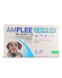 Amflee Combo*spot-on Soluz 3 Pipette 2,68 ml 268 mg + 241,2mg Cani da 20 a 40 kg