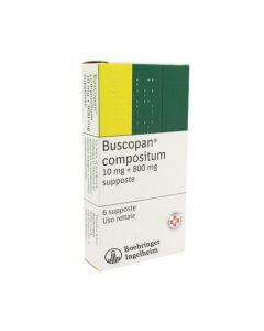 Buscopan Compositum*6 Supp 10 mg + 800 mg