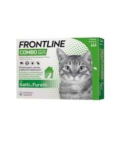 Frontline Combo Spot-on Gatti*soluz 3 Pipette 0,5 ml 50 mg +60 mg Gatti e Furetti