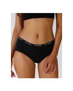 Lovable Period Panties Culotte Flusso Medio Nero Misura Large