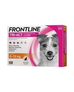 Frontline Tri-act*spot-on Soluz 3 Pipette 1 ml 504,8 mg + 67,6 mg Cani da 5 a 10 kg