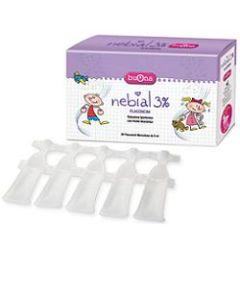 Nebial Soluzione Salina Ipertonica di Sodio Cloruro al 3% con Acido Ialuronico 20 Flaconcini 5 ml