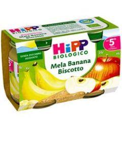 Hipp Bio Hipp Bio Omogeneizzato Mela Banana Biscotto 2x125 g