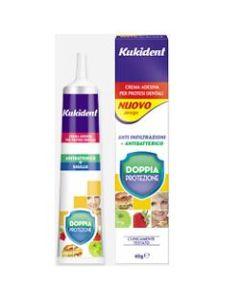 Kukident Doppia Protezione Crema Adesiva per Protesi Dentarie 40 g