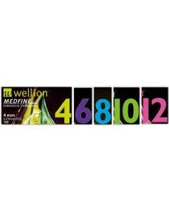 Ago per Penna da Insulina Wellion Medfine Plus 5 31 Gauge Lunghezza 5 mm 100 Pezzi