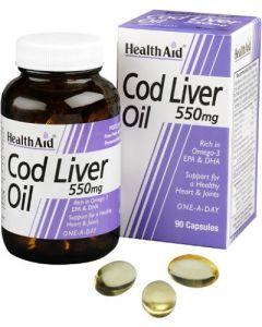 Olio Fegato di Merluzzo Cod Liver Oil 90 Cps 550 mg