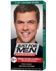 Just For Men Shampoo Colorante H45 Castano Scuro Attivatorechiaro 38,5 ml + Base Colore 27,5 ml