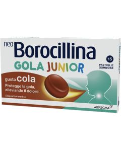 Neoborocillina Gola Junior 15 Pastiglie Cola