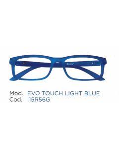 Occhiale da Lettura Premontato Iristyle Evo Touch Light Blue3,5