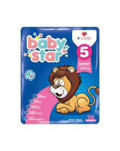 Pannolino Babystar 12/25kg t5 16 Pezzi