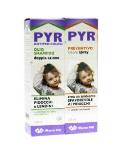 Pyr Abb Olio Shampoo Antipediculosi + 1 Olio Shampoo Doppiaazione + 1 Lozione Spray + 1 Pettine Lendini