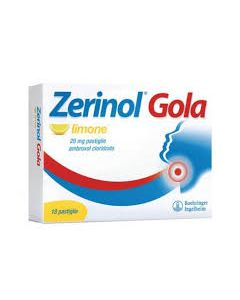 Zerinol Gola Limone*18 Pastiglie 20 mg